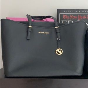Michael Kors Black Saffiano leather tote